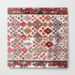 Gaziantep  Antique Turkish Tribal Kilim Metal Print