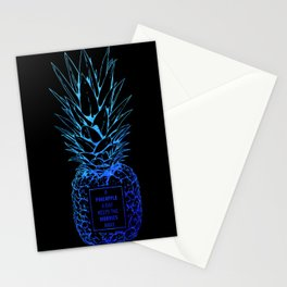 Pineapple Worries Stationery Cards