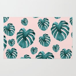 Tropical Monstera Dream #7 #tropical #pattern #decor #art #society6 Rug