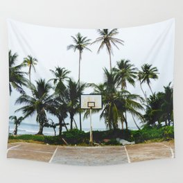 Basketball on Isla Bastimento, Bocas del Toro, Panama Wall Tapestry