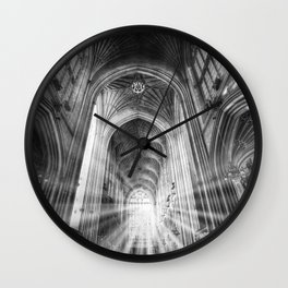 Bath Abbey Sun Rays Wall Clock