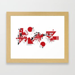 Kaz Framed Art Print