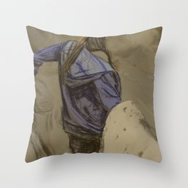 Hiking in the Desert Throw Pillow