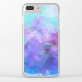 Blue and Violet 040914 Clear iPhone Case