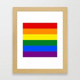 Pride Rainbow Colors Framed Art Print