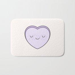 XOXO Candy Heart - Lilac Bath Mat