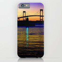 Newport Bridge - Newport, Rhode Island Purple Sunset iPhone Case