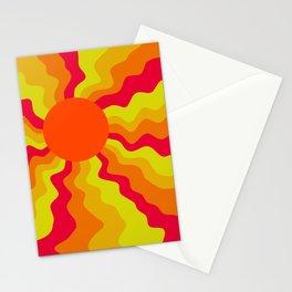 Bold Wavy Sun Rays Minimalist Abstract Stationery Cards