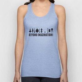 Beyond imagination: Battlestar Galactica postage stamp  Unisex Tank Top