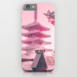 Pink Senso-Ji iPhone Case
