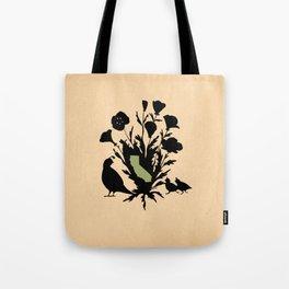 California - State Papercut Print Tote Bag