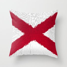 Extruded flag of Alabama Throw Pillow