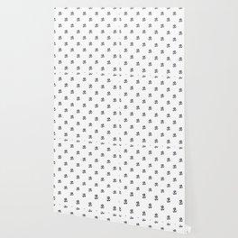 Black and White OM Pattern Wallpaper