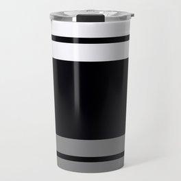 Team Colors 9...Black, white and gray Travel Mug