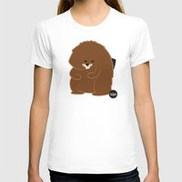 beaver T-shirts featuring Bushy Beaver by Lesbian Emojis