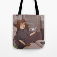 chemistry Tote Bags featuring Chemistry Room by Alyssa Tallent