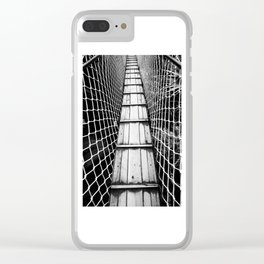 suspension bridge Clear iPhone Case