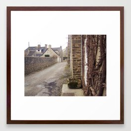 A small street Framed Art Print