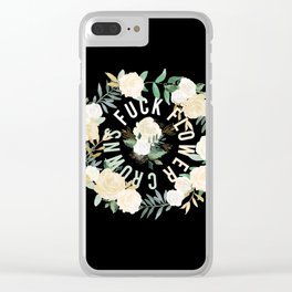 Fuck Flower Crowns Clear iPhone Case