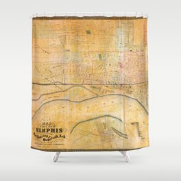 Map of the City of Memphis, Tennessee (1858) Shower Curtain