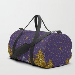 Beautiful glitter New Year Duffle Bag