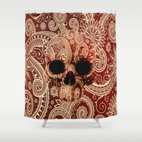 paisley Shower Curtains featuring Paisley by Steve Mac