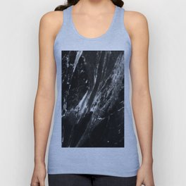 Black Marble Abstract Print  Unisex Tank Top