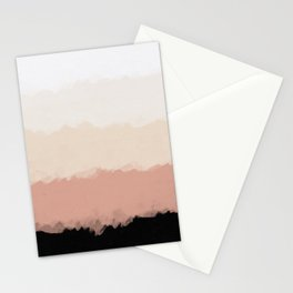 Abstract Rose Color Flora Blush Stationery Cards