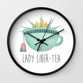 Lady Liber-tea Wall Clock