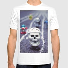 Death FTW Mens Fitted Tee MEDIUM White