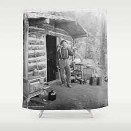 Pike's Peak Prospector Shower Curtain