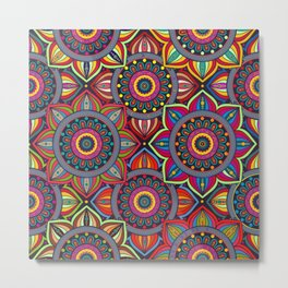 African Style No8 Metal Print