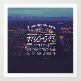moon quote Art Print