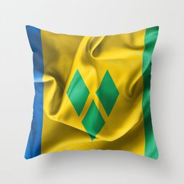 Saint Vincent and the Grenadines Flag Throw Pillow