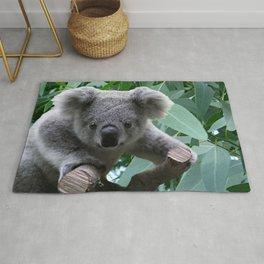 Koala and Eucalyptus Rug