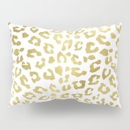 Glam Gold Cheetah Animal Print Pillow Sham