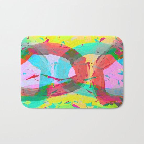 pastel color rings  Bath Mat