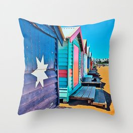 Camie's Beach House Throw Pillow
