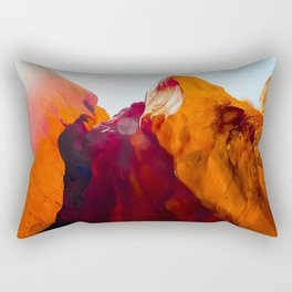 Desert Sandstone with summer light at Antelope Canyon, Arizona, USA Rectangular Pillow