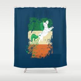 Distressed Irish Flag St Patricks Unicorn Blue Shower Curtain