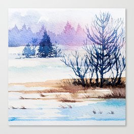 Winter scenery #13 Canvas Print