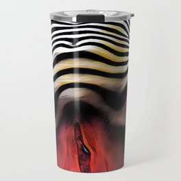 1290s-AK_2753 Striped Nude Vuval Portrait of an Aroused Woman by Chris Maher Travel Mug