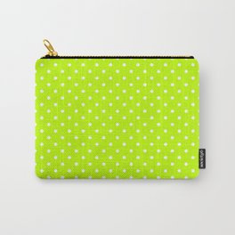 Dots (White/Lime) Carry-All Pouch