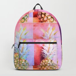 Colorful Pineapple Collage Backpack