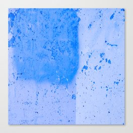 Stonewall in Pale Cerulean and Cyan Canvas Print