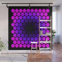 Hexagon & Pattern Wall Mural
