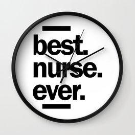Best Nurse Ever Work Job Title Gift Wall Clock