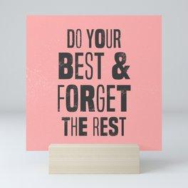 do your best Mini Art Print
