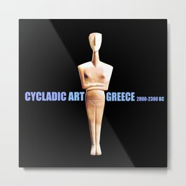 CYCLADIC ART Metal Print