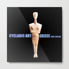 CYCLADIC ART Metal Print